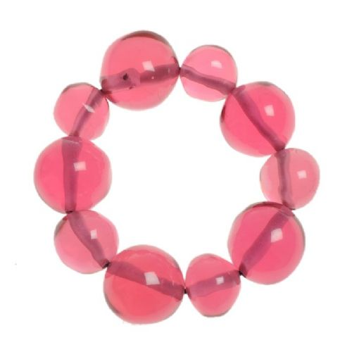 Jackie Brazil Abstract Balls Bracelet in Transparent Pink